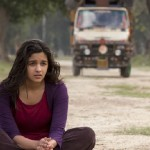 Alia sitting on Road during Shooting of Highway