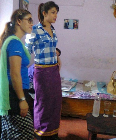 priyanka chopra with mary kom at her house in imphal   centist