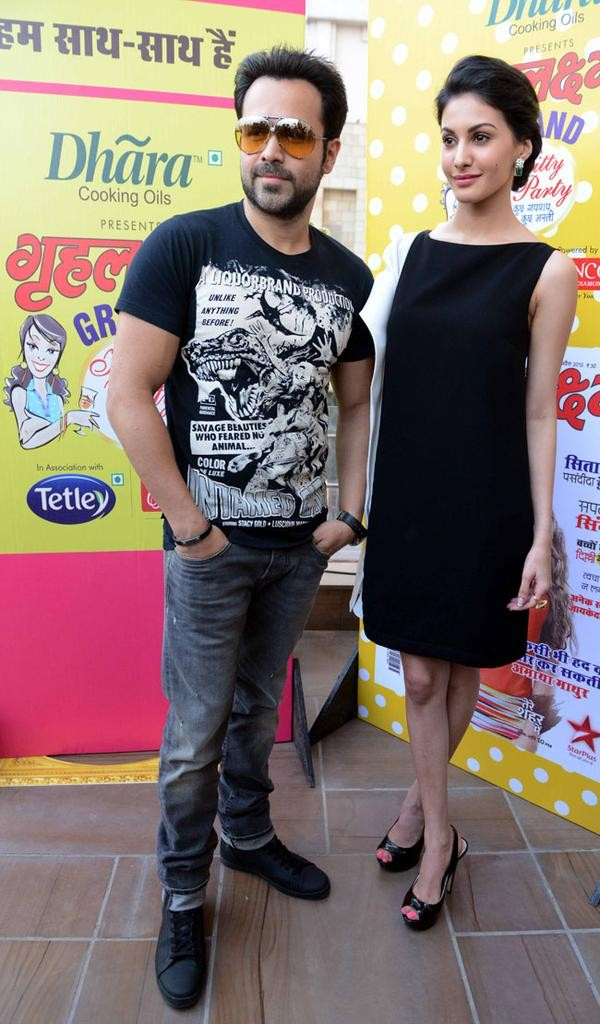 Emraan Hashmi and Amyra Dastur during promotion of Mr. X